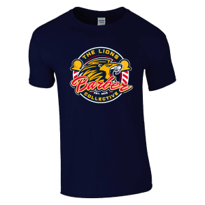 Lions Barber Collective T-Shirt – Navy